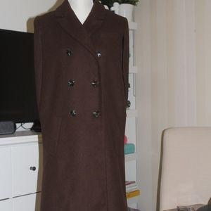 Exclusive ASOS Sleeveless Cape Coat